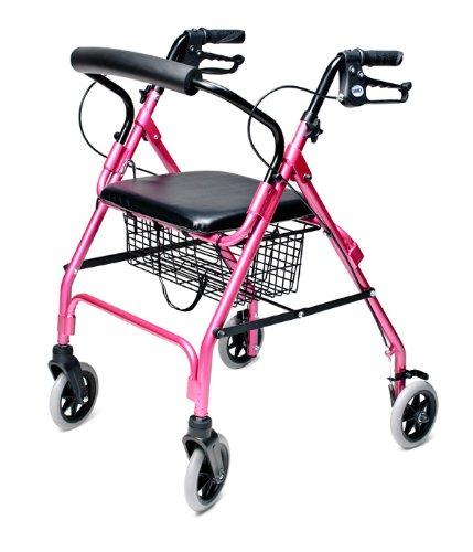 lumex-walkabout-lite-four-wheel-rollator-pink-by-lumex