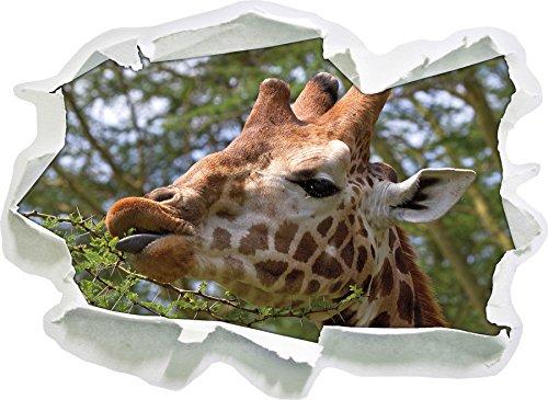 carino giraffa mentre si mangia, di carta 3D autoadesivo della parete formato: 92x67 cm decorazione della parete 3D Wall Stickers parete decalcomanie