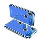 GDTOGRT Coque iPhone X, Verre Trempé Miroir Arrière en Aluminium Bling Diamond...