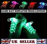 BestOfferBuy Blinkende LED Licht leuchten Schnürsenkel Schuh Rote Farbe