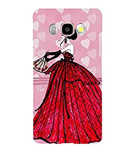 Printvisa Animated Glamorous Girl In A Red Gown 3D Hard Polycarbonate Designer Back Case Cover For Samsung Galaxy J7 (2016) :: Samsung Galaxy J710F :: Samsung Galaxy J7 (2016) Duos With Dual-Sim Card Slots