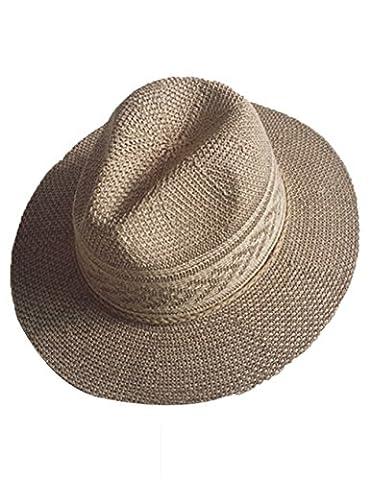 Cukke Womens Summer Hats Cotton Linen Woven Wide Brim Summer
