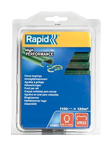 Rapid VR22 Drahtgitterklammern, Grüne Kunststoffbeschichtung, 1100 Stück