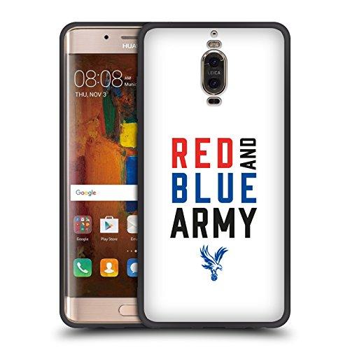 Head Case Designs Offizielle Crystal Palace FC Rot und Blau Armee The Eagles Skinny Fit Hybrid Glasiert Hülle für Huawei Mate 9 Pro (Skinny Arm)