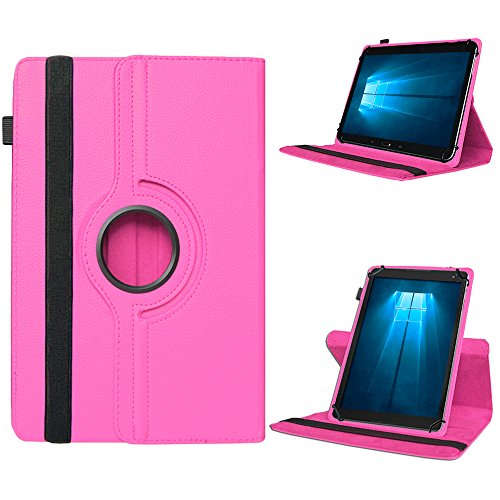 UC-Express Odys Connect 7 Pro Tasche Tablet Hülle Cover Case Schutzhülle 360° Drehbar Etui, Farben:Pink