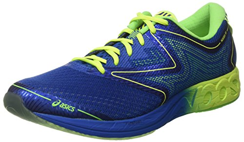 Asics T722N, Scapre da corsa Uomo, Multicolore (IMPERIAL/SAFETY YELLOW/GREEN GECKO), 42.5 EU
