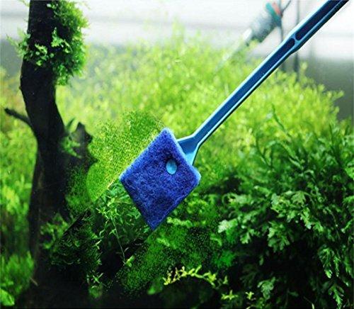 uarium Pflanze Algen von Glass Fish Tank reinigen Reinigungsbürste, blau ()