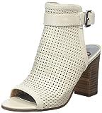 Sam Edelman Women s Emmie Peep Toe Booties Greige Nappa Luva Leather 5 B(M) US