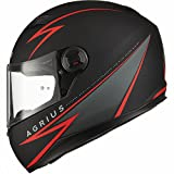 Agrius Rage Fuse Motorcycle Helmet XL Matt Black/Red