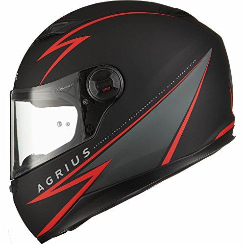 Agrius Rage Fuse Motorcycle Helmet M Matt Black/Red