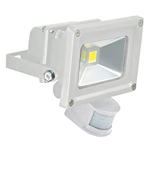 Eagle 10 w led flood light with pir sensor white amazon eagle 10 w led flood light with pir sensor white mozeypictures Gallery