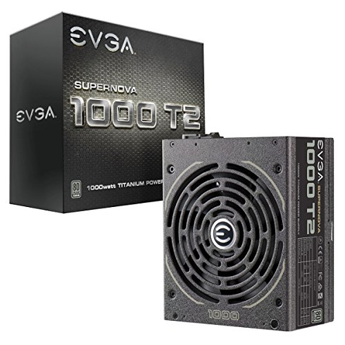 EVGA SuperNOVA 1000 T2, 80+ TITANIUM 1000W, totalmente modulare, EVGA ECO Mode, garanzia 10 anni, include alimentatore Power On Self Tester 220-T2-1000-X2 (UE) GRATIS