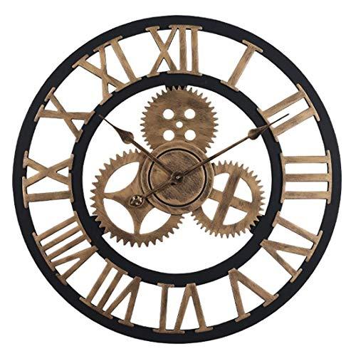 DOSNVG 60cm Wanduhren XXXL Sehr Elegant Watch Industrial Style Silent Clock Dekorative Uhr für Wohnzimmer, Küche, Raum, Büro