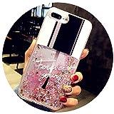 Coque à Paillettes Liquide pour iPhone Se 5 5S 7 8 6 6S Plus Coque pour iPhone X 8 7 Plus Coque pour Flacon de Parfum à Sable Rapide for iPhone 6 6S Plus 21
