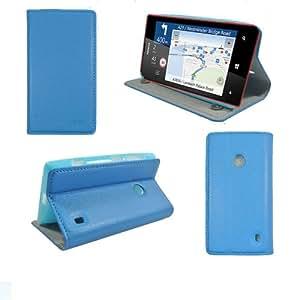 Etui luxe Nokia Lumia 520 bleu Ultra Slim Cuir Style avec stand - Housse coque de protection Nokia Lumia 520 bleue - Prix découverte accessoires pochette XEPTIO : Exceptional case !