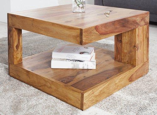 DuNord Design Couchtisch Sofatisch GOA 60cm Palisander Massiv Holz Tisch Sheesham Natur Honey