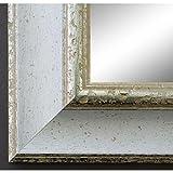 Online Galerie Bingold Spiegel Wandspiegel Badspiegel Flurspiegel Garderobenspiegel - Über 200 Größen - Acta Weiß Silber 6,7 - Außenmaß des Spiegels 50 x 140 - Wunschmaße auf Anfrage - Antik, Barock
