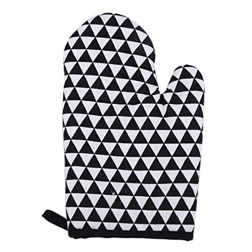 Küche hitzebeständig Baumwolle Handschuh Oven Topf Halter Backen BBQ Koch -, hearsbeauty, Mitt 3# Köche Mitt