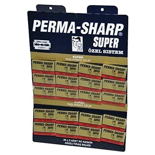 Permasharp Super Double Edge Razor Blades - Pack of 100 Blades -