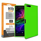 Razer Phone Case, Orzly FlexiCase for the Razer Gaming SmartPhone (2017 Android Model) - Protective Flexible Silicon Gel Phone Case in GREEN