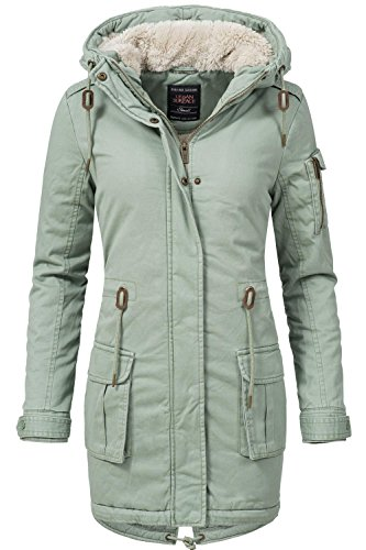 Urban Surface Damen Mantel Wintermantel Winterparka 44387A Grün Gr. XL