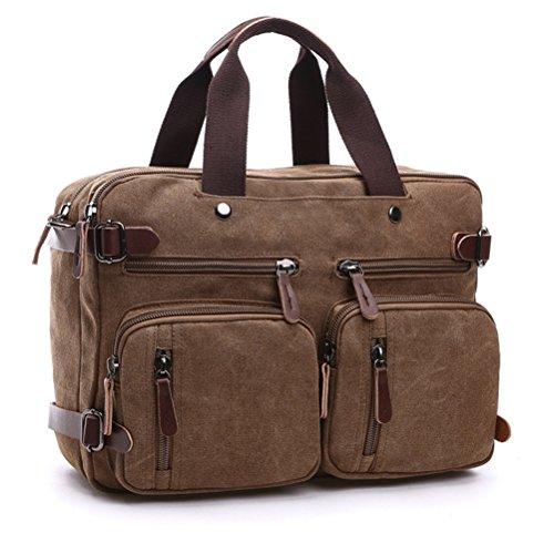 Männer Multifunktions Jutetaschen 13-14 Zoll Laptop reisen Griff Taschen Männer große Kapazität Crossbody Koffer Taschen KS1052