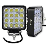 Safego 2 x 4.25inch LED Arbeitslicht 48W LED...