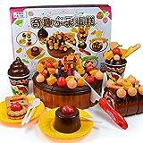 Tellaboull For Fingi il gioco di ruolo, il giocattolo della cucina, la torta della fragola del cioccolato di buon compleanno, l'insieme di taglio dell'alimento, i giocattoli educativi di apprendimento