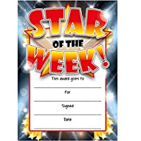 Star Of The Week Reward Certificate Cards by Sticker Time (16 pack RED)