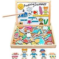 yoptote Puzzle Enfant en Bois 110 Pièces Jeux de Pêche + Tableau Magnetique Enfant Jeu Montessori Educatif Jouet Enfant…