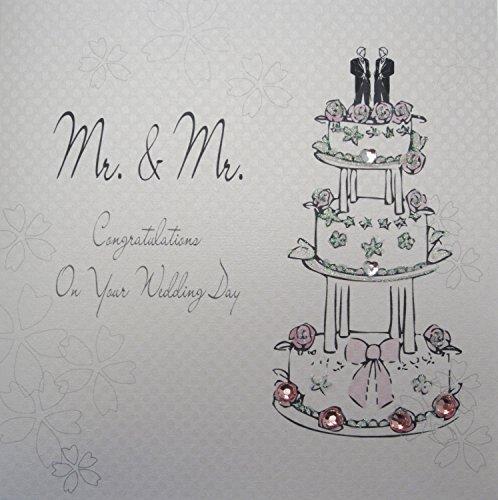 WHITE COTTON CARDS Hochzeitskarte, Motiv: Hochzeitstorte, englischsprachige Aufschrift