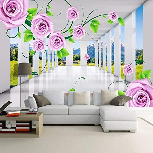 Vine Grafiken (Benutzerdefinierte Fototapeten Moderne 3D Stereo Raum Rose Vines Wohnzimmer Sofa TV Hintergrund Wandmalerei Tapete Für Schlafzimmer Wände @ 400 * 280 cm)