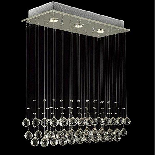 Glighone Lámpara Colgante 3 LED 50W Lámpara de Techo Luz Moderna Cri