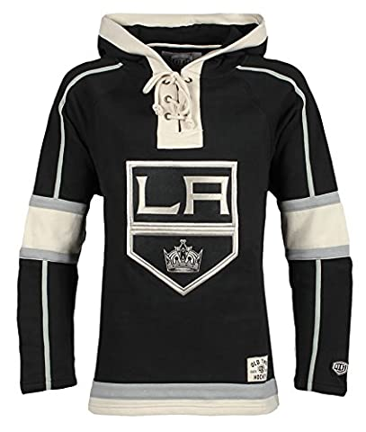 NHL Los Angeles Kings Men's Lacer Heavyweight Hoodie, Medium, Black