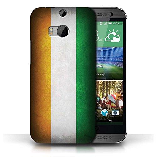 Coque en plastique pour HTC One/1 M8 Collection Drapeau - Mecico/Mecican Côte-d'Ivoire