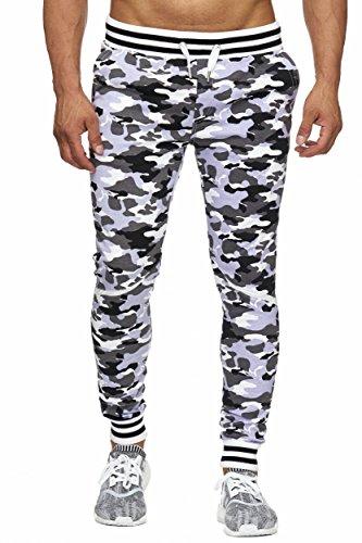 BELLIS® Herren Jogginghose Camo Edition / S-XXXL / T-00016 White-Camo