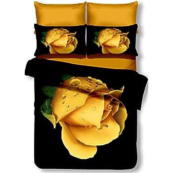 DecoKing Premium 01110/biancheria da letto 155/x 220/cm con 1/federa 80/X 80/amaranto 3d in microfibra completo letto lenzuola fiori motivo floreale rosa pink Sandy