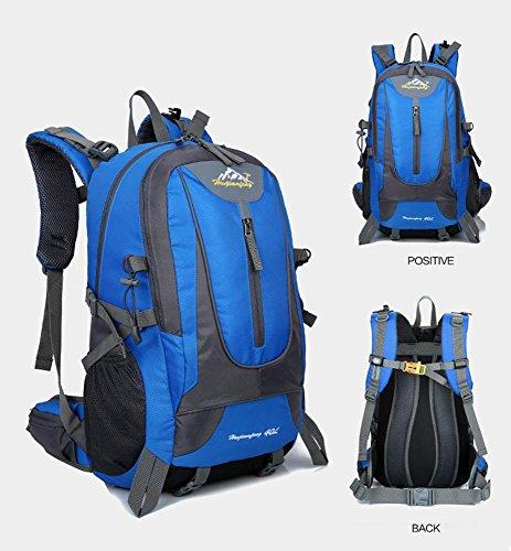 Wasserdichte Sport-Fitness-Kit Outdoor-Sport-Wandertasche Reise Bergsteigen Tasche Camping Rucksack days blue