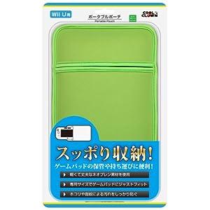 Wii Uゲームパッド用「ポータブルポーチ」(ライトグリーン)