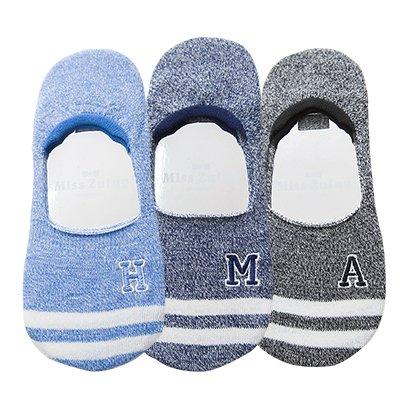Maivasyy 3 Pairs of Socks Boat Socks Women Invisible Silicone Non-Slip Short Ladies Spring Summer Socks, Blue + Dark Blue + Black preisvergleich