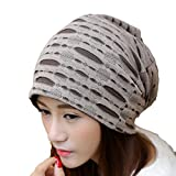 HENGSONG Beanie Mütze mit Buchstabe Muster, Slouch Beanie für Damen und Herren, Unisex (Khaki)