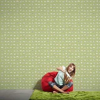 AS Creation Cow Pattern Kitchen Wallpaper Polka Dot Spots Motif Embossed (Green 324592)