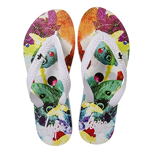 HYPE Rainbow Butterfly Flip Flops (Weiß) Mehrfarbig