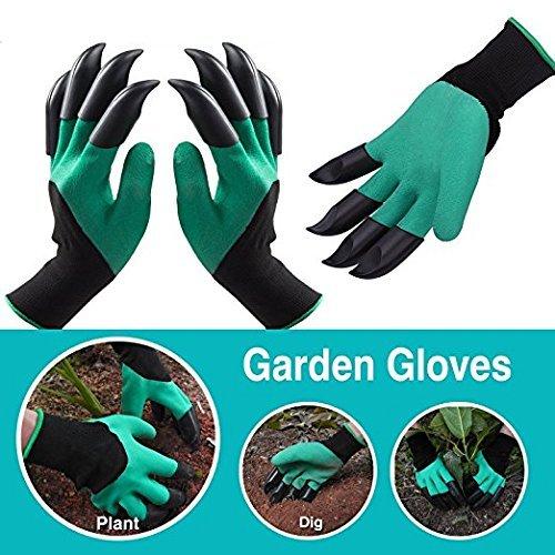 Original-stretch-handschuh (Zeagro The ORIGINAL Gartenhandschuh, umweltfreundlich, Krallen für Rechts- und Linkshänder)