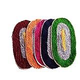 #10: AV Creations Cotton Designer Bathmat/DoorMat Small OvalPremium Quality_Multi)set of 5
