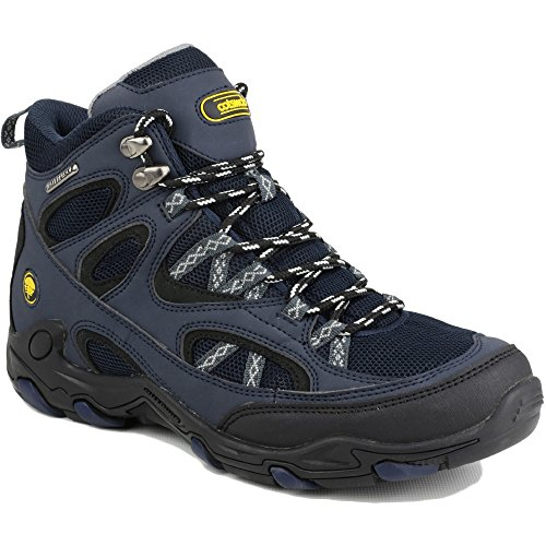 Cotswold Mens Aggshill Mid Lace Up Leather Walking Hiking Boot Navy Drkblu