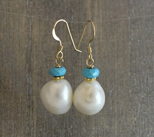 cultured-nugget-freshwater-pearl-turquoise14kt-gold-filled-earwires-earrings