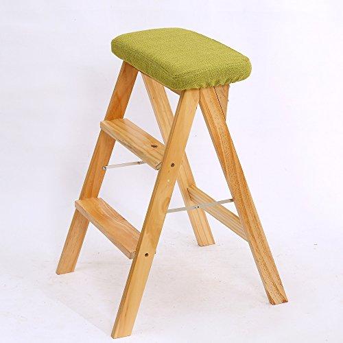 LJHA Tabouret pliable Repose-pieds pliable créatif en bois solide/simple tabouret de cuisine/banc de salon/haut tabouret 42 * 63 cm chaise patchwork (Couleur : A, taille : 1#)