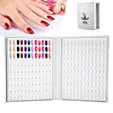 216colori gel unghie scheda di colore Smalto per Unghie libro da tavola di presentazione smalti Nail Art Showing Shelf bianco