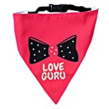 #5: Love Guru! Dog Bandana by Lana, Quirky & Cool Dog Fashion Accessory with Easy to use Adjustable Strap